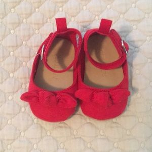 Old Navy Red Mary Janes 0-3 months